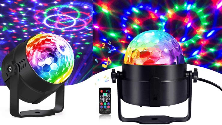 Kristálygömb – LED party fény