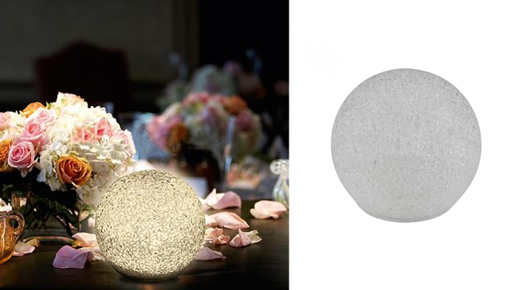 LED gömb dekoráció - 20 cm